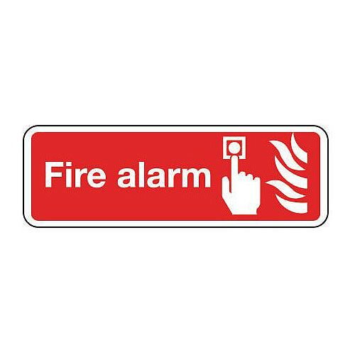 Rigid PVC Plastic Fire Alarm Sign