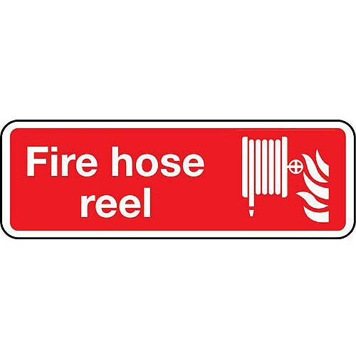 Rigid PVC Plastic Fire Hose Reel Sign
