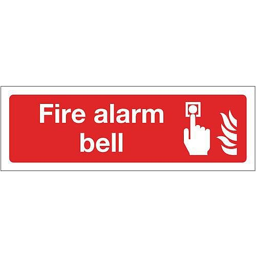 Rigid PVC Plastic Fire Alarm Bell Sign