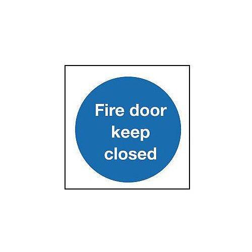Rigid PVC Plastic Fire Door Keep Closed Sign