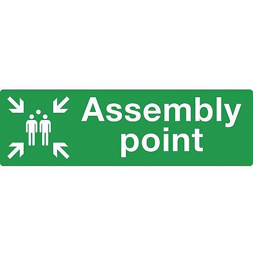 Rigid PVC Plastic Assembly Point Sign