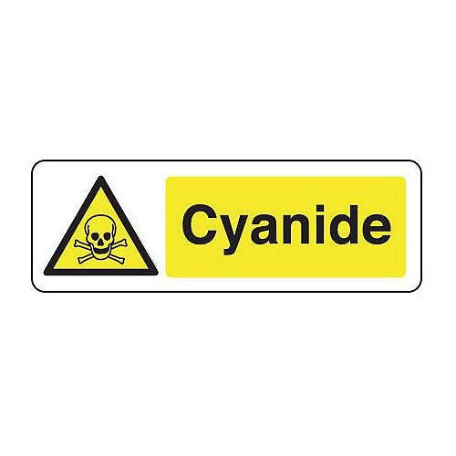 Rigid PVC Plastic Chemical And Substance Hazards Sign Cyanide