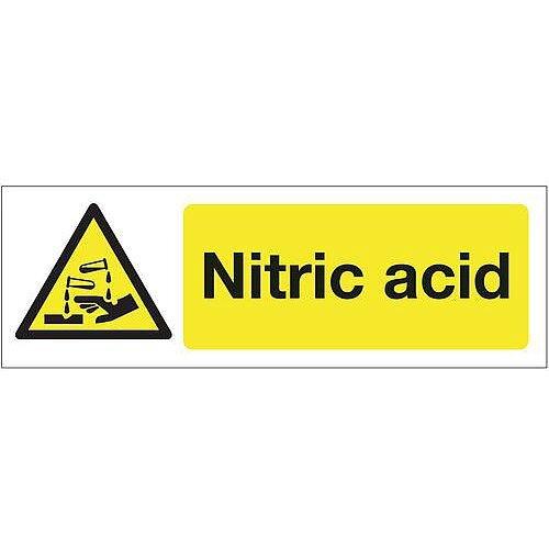 Rigid PVC Plastic Chemical And Substance Hazards Sign Nitric Acid