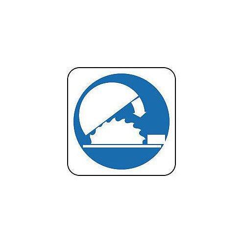 Rigid PVC Plastic Mandatory Sign Use Adjustable Guard