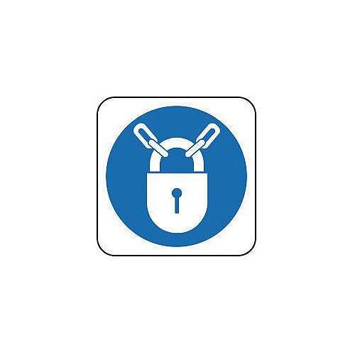 Rigid PVC Plastic Mandatory Symbols Sign Keep Locked