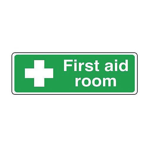 Rigid PVC Plastic Safe Condition And First Aid Sign First Aid Room