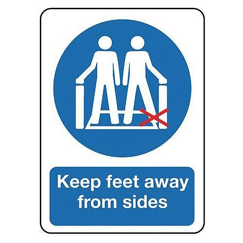 Rigid PVC Plastic Escalators And Passenger Conveyors Sign Keep Feet Away From Sides