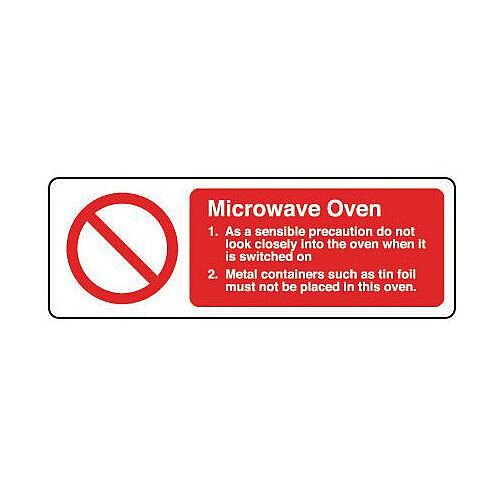Rigid PVC Plastic Food Processing And Hygiene Sign Microwave Oven