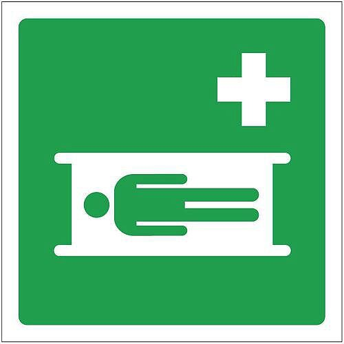 Rigid PVC Plastic Safe Condition And First Aid Sign First Aid Bed