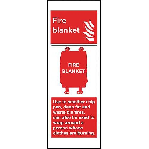 Rigid Plastic Fire Blanket Sign