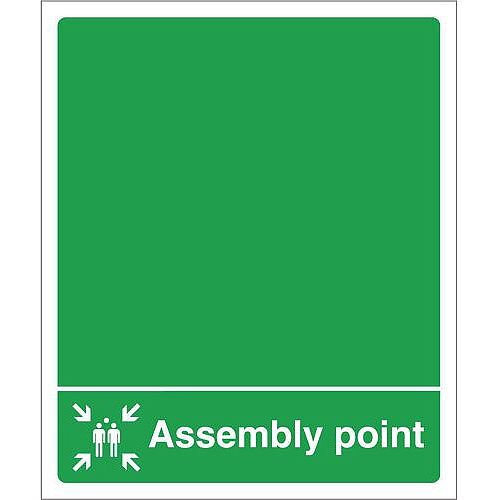 Sign Assembly Point 250X300 Rigid Plastic