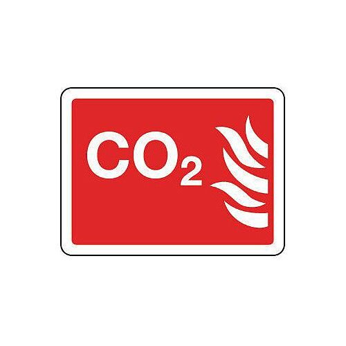 Rigid PVC Plastic Fire Fighting Equipment Sign Co2