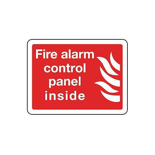 Rigid PVC Plastic Fire Alarm Control Panel Inside Sign