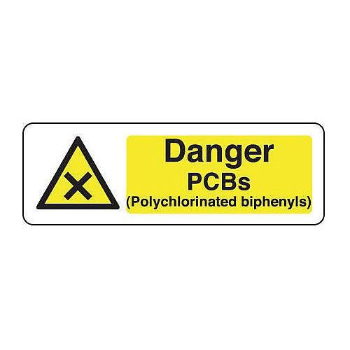 Rigid PVC Plastic Chemical And Substance Hazards Sign Warning Pcbs