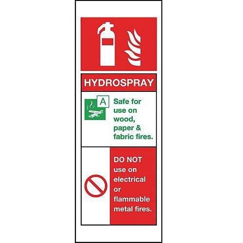 Rigid Plastic Hydrospray Sign