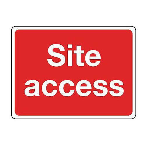 Rigid PVC Plastic General Construction Sign Site Access