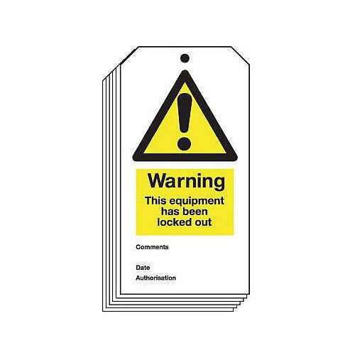 Tag Warning This Equipment 80X150 Rigid Plastic