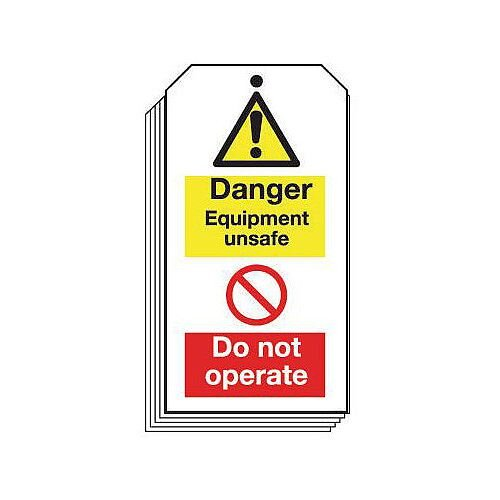 Tag Danger Equipment Unsafe 80X150 Rigid Plastic