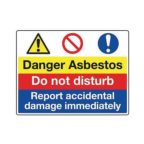 Sign Danger Asbestos 600X450 Rigid Plastic