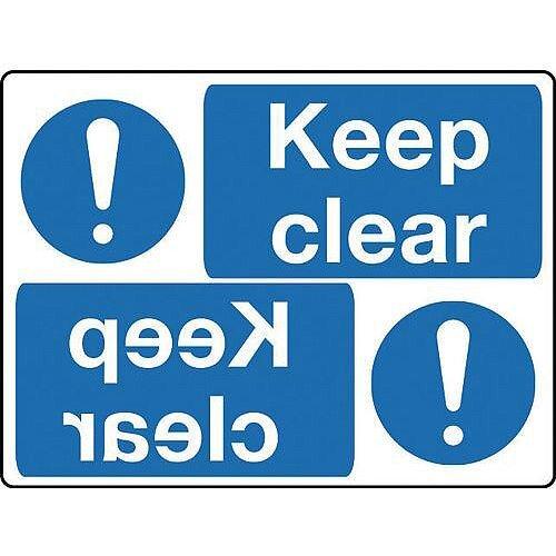 Rigid PVC Plastic Mirror Sign Header Keep Clear