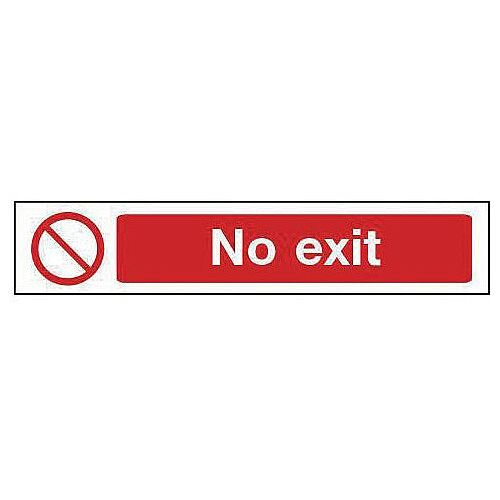 Rigid PVC Plastic Overhead Prohibition Sign No Exit