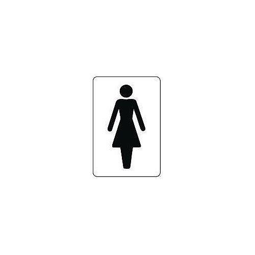 Sign Ladies 100X75 Rigid Plastic