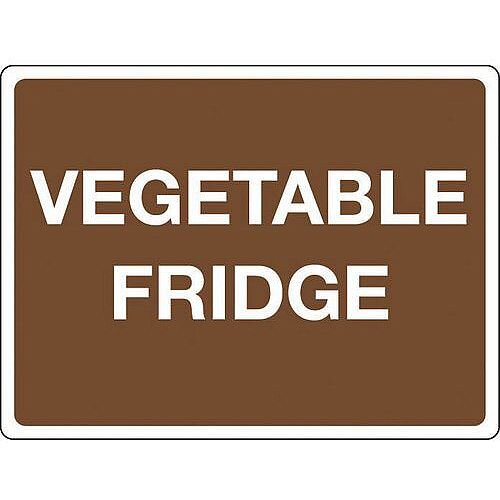 Rigid PVC Plastic Colour Co-Ordinated Chopping Board &Storage Sign Vegetable Fridge