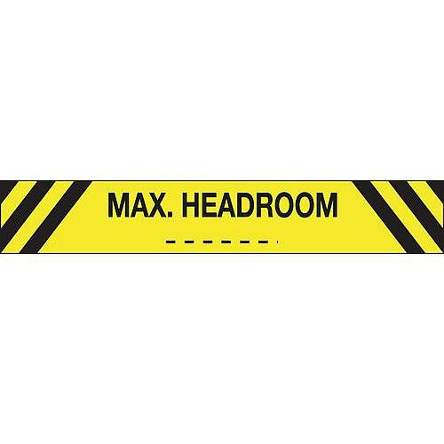 Sign Max Headroom 1200X150 Reflective