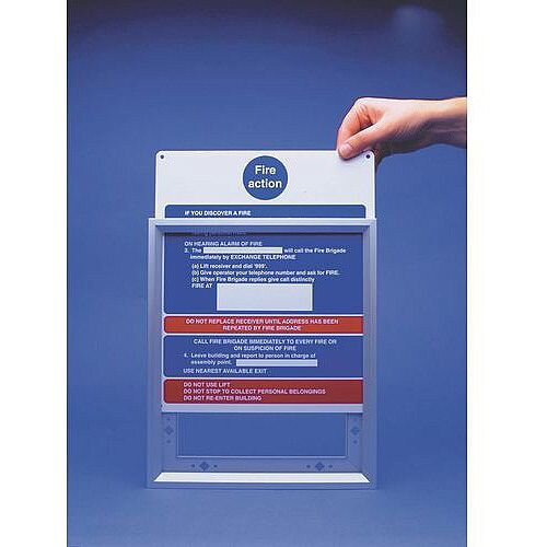 Sign Fire Action Frame 250x300 Aluminium