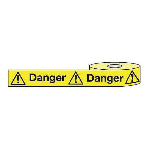 Non-Adhesive Barrier Tape Danger 75mm x 250m Tape
