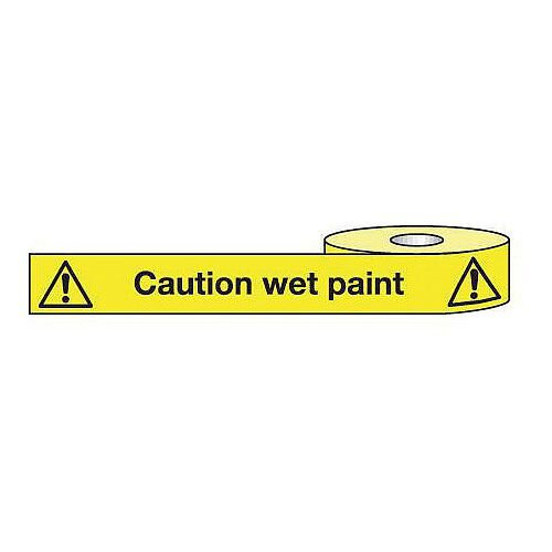 Non-Adhesive Barrier Tape Caution Wet Paint 150mm x 100m Tape