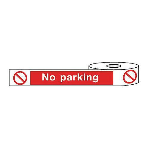 Non-Adhesive Barrier Tape No Parking 150mm x 100m Tape