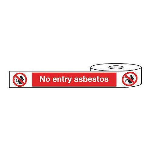 Non-Adhesive Barrier Tape No Entry Asbestos 150mm x 100m Tape
