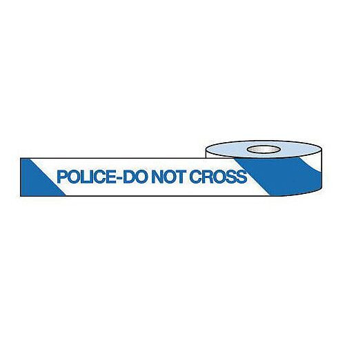 Non-Adhesive Barrier Tape Police Do Not Cross 75mm x 250m Tape