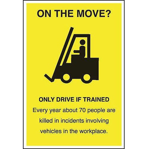 Poster On The Move 510x750 Laminated