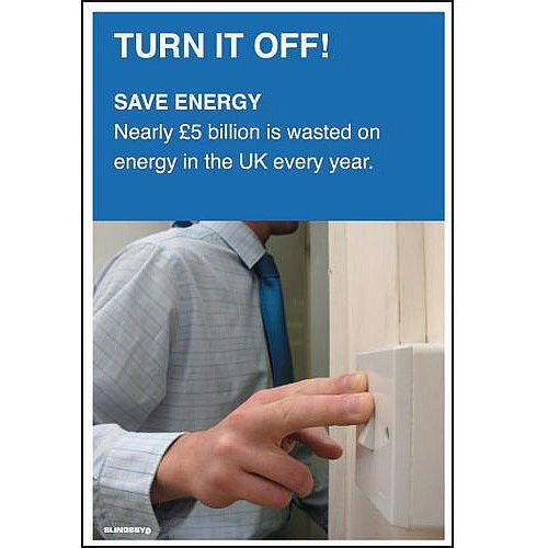 Poster Turn It Off 510x750 Laminated