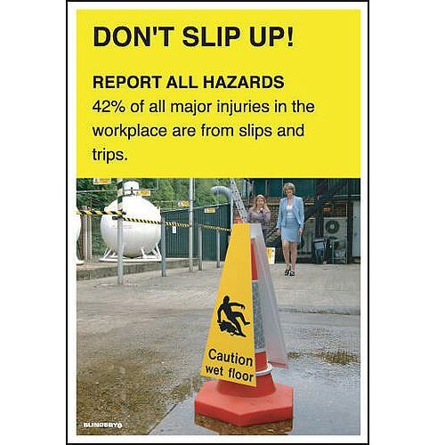 Poster Don T Slip Up 510x750 Laminated