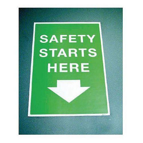 Sign Safety Starts Here 400x600 Floor Vinyl