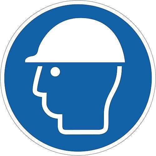 Sign Head Protection Pic 400x400 Floor Vinyl