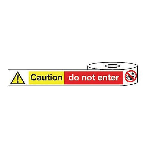 Non-Adhesive Barrier Tape Caution Do Not Enter 75mm x 250m Tape