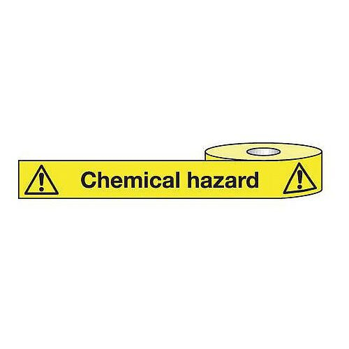 Non-Adhesive Barrier Tape Chemical Hazard 75mm x 250m Tape