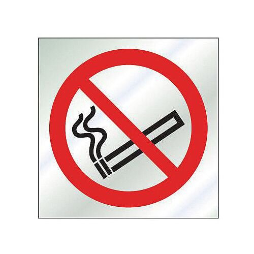 Stainless Steel Prestige Range Sign No Smoking