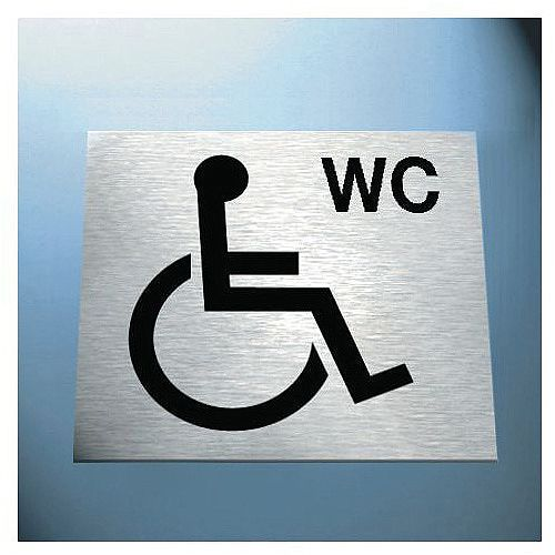 Sign Disabled Wc Pic 100X100 Brass Effect