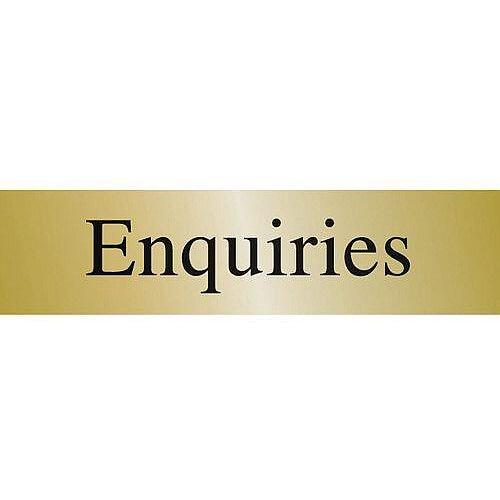 Brass Prestige Range Sign Enquiries