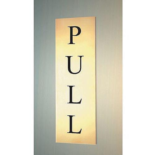 Prestige Range Sign Pull 50x150 Brass Effect