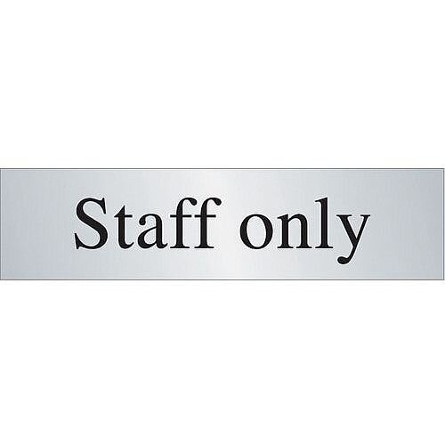 Brass Effect Prestige Range Sign Staff Only