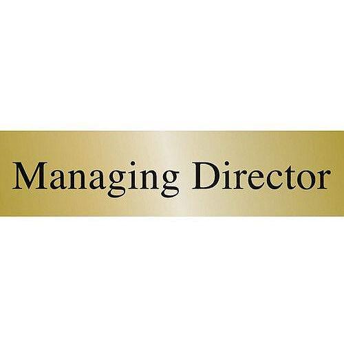 Brass Effect Prestige Range Sign Managing Director