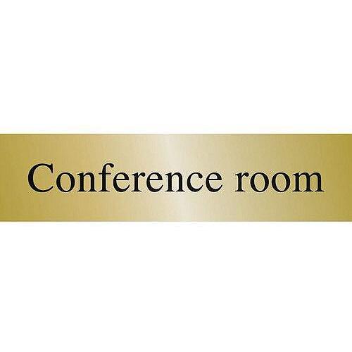 Brass Effect Prestige Range Sign Conference Room
