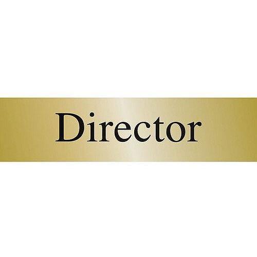 Brass Effect Prestige Range Sign Director