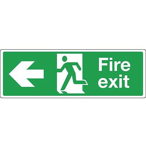 Extra Large Directional Emergency Escape Sign Double Sided With Arrow H x W mm: 400 x 1200